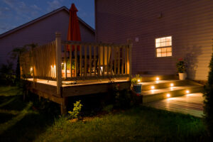 Wooden Deck at night